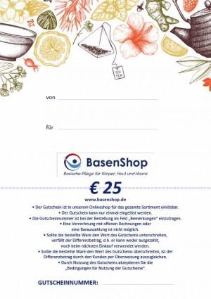 Basenshop Gutschein 25 EUR